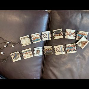 Chico's embellished leather belt